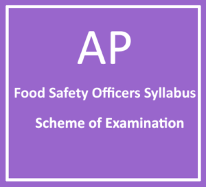 APPSC Food Safety Officer Syllabus 2018