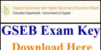 Gujarat TAT Answer Key 2018