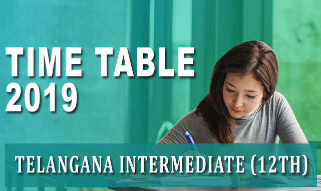 TS Intermediate 2nd Year Time Table 2019