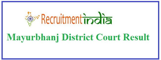 Mayurbhanj District Court Recruitment